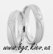 Обручальные кольца из белого золота на заказ Киев