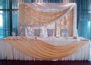 прокат свадебных арок, чехлов на стулья, юбки на столы Киев и область